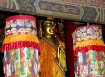 Templo budista Estatua de Buda --El templo de Yonghe, Pekín, China Imagen de archivo libre de regalías