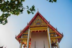 Templo budista Hatyai tailandia Imagen de archivo libre de regalías