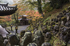 Templo budista Kyoto, Japón de Otagi Nenbutsu-ji Foto de archivo