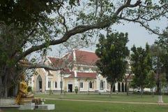 Templo budista la arquitectura de la iglesia (Wat Niwet Thamma Foto de archivo
