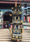 Templo budista na área de montanha de Qingcheng perto de Chengdu fotos de stock