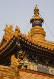 Templo budista Pekín del gongo de Yonghe de la aguja Imagen de archivo