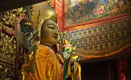 Templo budista Pekín del gongo de Yonghe del Ba de Zhong KE Imagenes de archivo