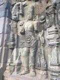 Templo budista Ruínas históricas Bas Reliefs Arquitetura antiga indonésia imagens de stock royalty free