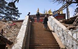 Templo budista tibetano en Yunnan, China Imagen de archivo libre de regalías