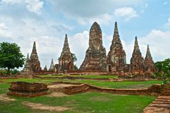 Templo budista Wat Chaiwatthanaram en Ayutthaya Imagenes de archivo