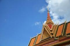 Templo budista Wat Preah Prom Rath em Siem Reap, Camboja fotografia de stock