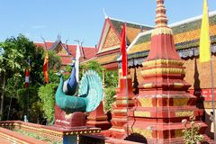 Templo budista Wat Preah Prom Rath, Siem Reap fotografia de stock