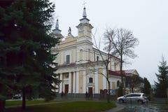 Templo católico Imágenes de archivo libres de regalías
