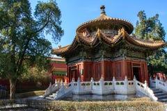 Templo chinês autêntico, Pequim foto de stock