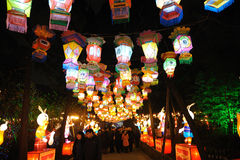 Templo chinês do ano 2011 novo justo em chengdu Foto de Stock
