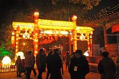 Templo chinês do ano novo justo em chengdu Imagem de Stock Royalty Free