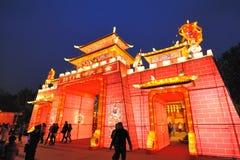 Templo chinês do ano novo justo em chengdu Imagens de Stock