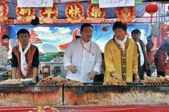 Templo chinês do ano novo justo em wuhan Imagens de Stock