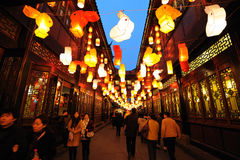 Templo chinês do ano novo justo no jinli Foto de Stock Royalty Free