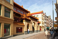Templo chinês em Amsterdão Foto de Stock