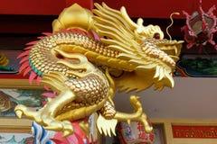 Templo chinês no cais de Nonthaburi Fotografia de Stock