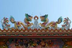Templo chinês no cais de Nonthaburi Imagem de Stock
