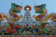 Templo chinês no cais de Nonthaburi Fotos de Stock