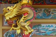 Templo chinês no cais de Nonthaburi Imagem de Stock Royalty Free