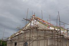 Templo chinês sob a construção Fotos de Stock Royalty Free