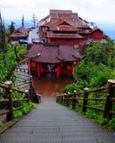 Templo chinês vermelho Imagem de Stock Royalty Free