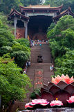 Templo China de Lingyun Shan Mountain Fotografia de Stock