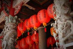 Templo chino con la linterna Foto de archivo libre de regalías