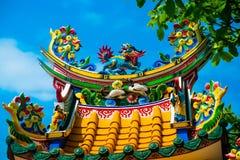 Templo chino con un dragón Imágenes de archivo libres de regalías