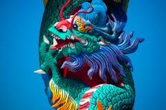 Templo chino con un dragón Fotografía de archivo libre de regalías