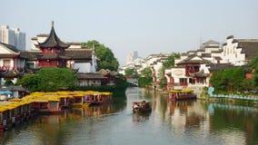 Templo chino de Confucius de la ciudad de Newyear NanJing Imágenes de archivo libres de regalías