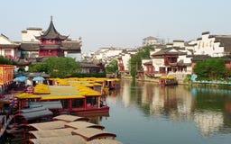 Templo chino de Confucius de la ciudad de Newyear NanJing Fotos de archivo libres de regalías