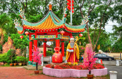 Templo chino de Thean Hou en Kuala Lumpur, Malasia Fotografía de archivo libre de regalías