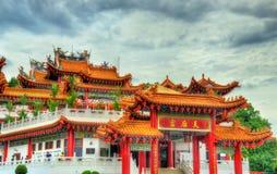 Templo chino de Thean Hou en Kuala Lumpur, Malasia Foto de archivo