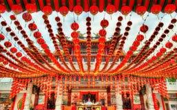 Templo chino de Thean Hou en Kuala Lumpur, Malasia Imagen de archivo