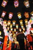 Templo chino del Año Nuevo 2012 justo en Chengdu Fotos de archivo libres de regalías