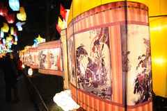 Templo chino del Año Nuevo justo en chengdu Imágenes de archivo libres de regalías