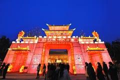 Templo chino del Año Nuevo justo en chengdu Imagen de archivo libre de regalías