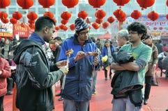 Templo chino del Año Nuevo justo en wuhan Fotografía de archivo libre de regalías