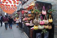 Templo chino del Año Nuevo 2013 justo en Chengdu Imagen de archivo libre de regalías