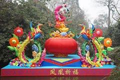 Templo chino del Año Nuevo 2013 justo en Chengdu Imagen de archivo