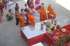 Templo chino durante Año Nuevo chino Foto de archivo libre de regalías