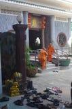 Templo chino durante Año Nuevo chino Foto de archivo