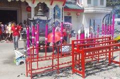 Templo chino durante Año Nuevo chino Fotos de archivo