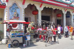 Templo chino durante Año Nuevo chino Fotografía de archivo