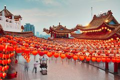 Templo chino en Kuala Lumpur Fotos de archivo