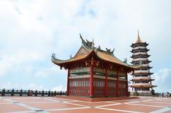 Templo chino en la montaña de Genting Fotografía de archivo libre de regalías