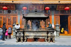 Templo chino Shangai China del Taoist Fotografía de archivo