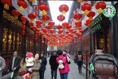 Templo chinês do ano 2013 novo justo em Chengdu Imagem de Stock