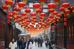 Templo chinês do ano 2013 novo justo em Chengdu Foto de Stock